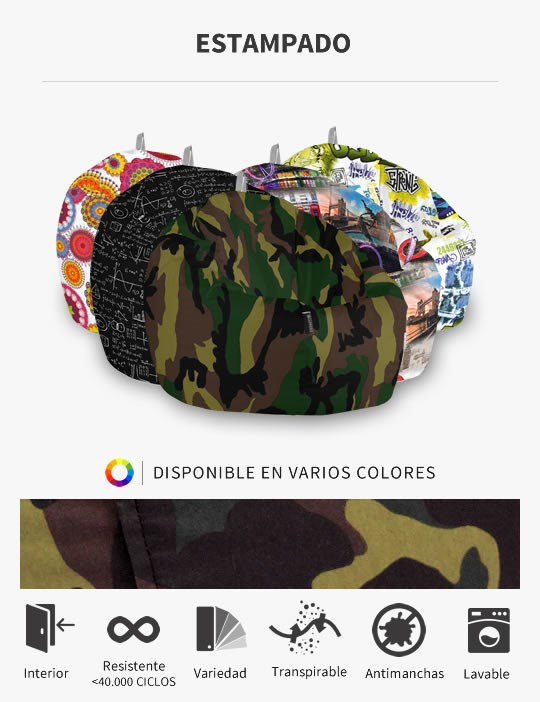 Puff Pelota Estampados de HAPPERS