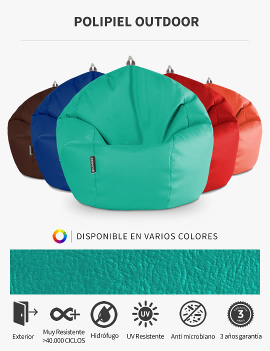 Puff Pelota Polipiel Outdoor