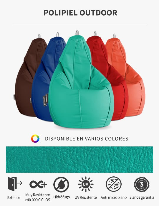 Puff Pera Polipiel Outdoor de HAPPERS