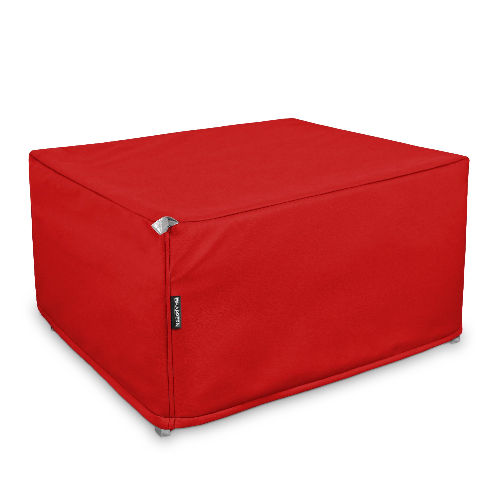 Puff Cama Somier plegable Polipiel Indoor Rojo en puffdepera.com