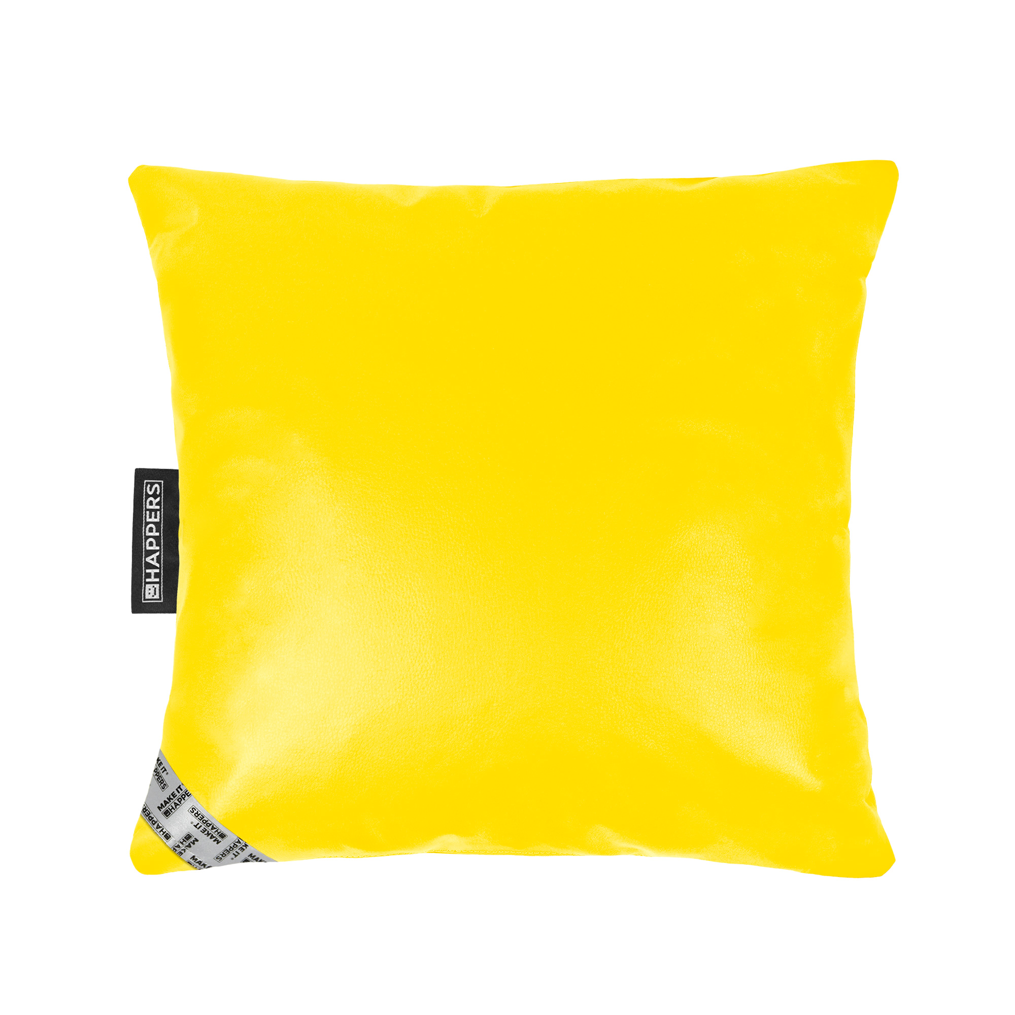 Cojín 45x45 Polipiel Indoor Amarillo Happers | Happers.es