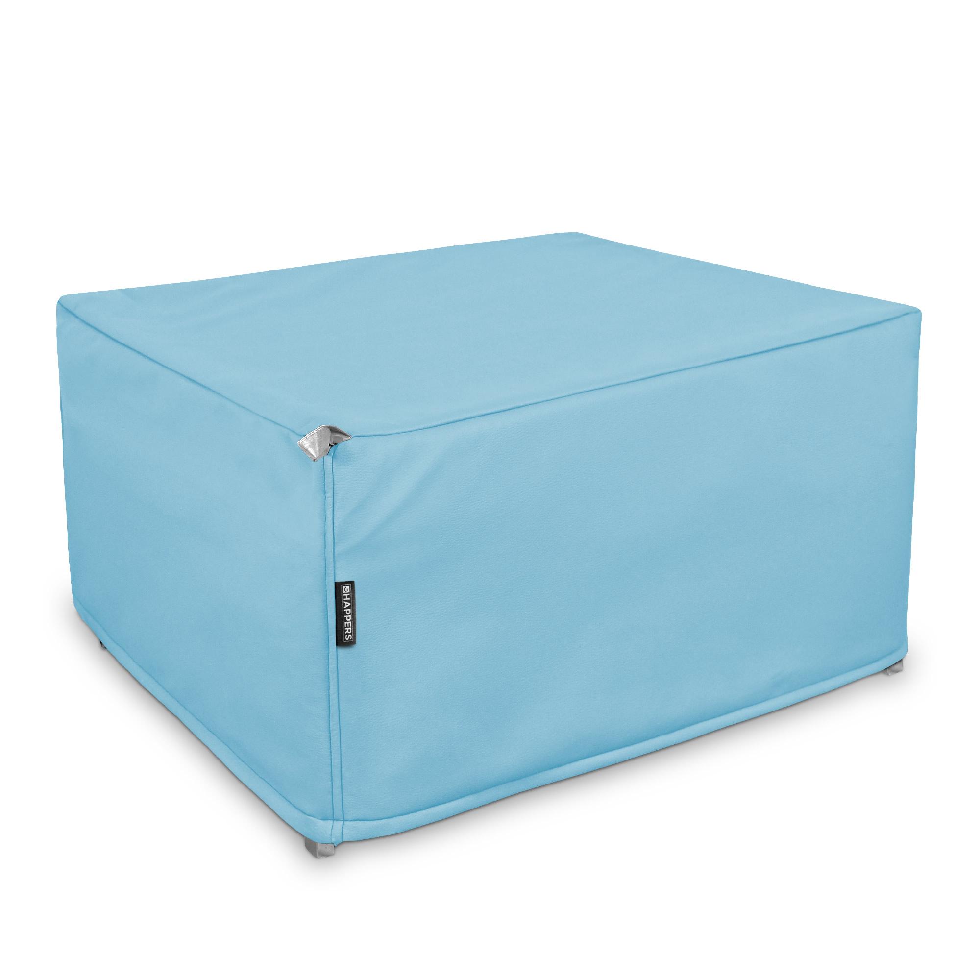 Puff Cama Somier plegable Polipiel Indoor Azul Cielo en puffdepera.com