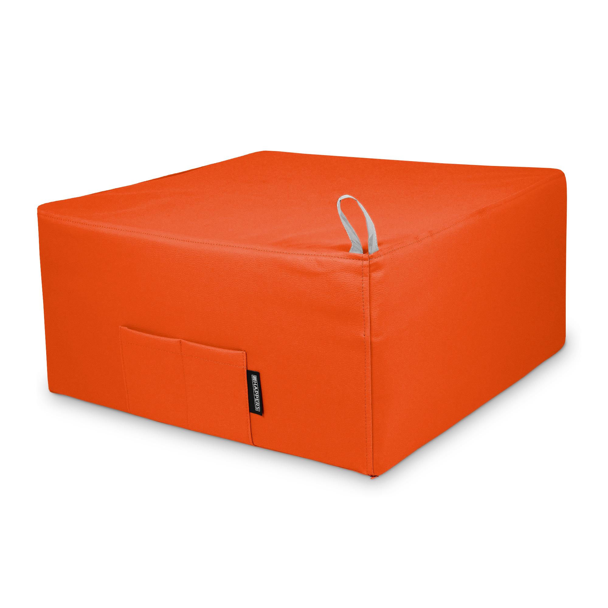 Puff Cama Individual para una persona Polipiel Indoor Naranja en puffdepera.com