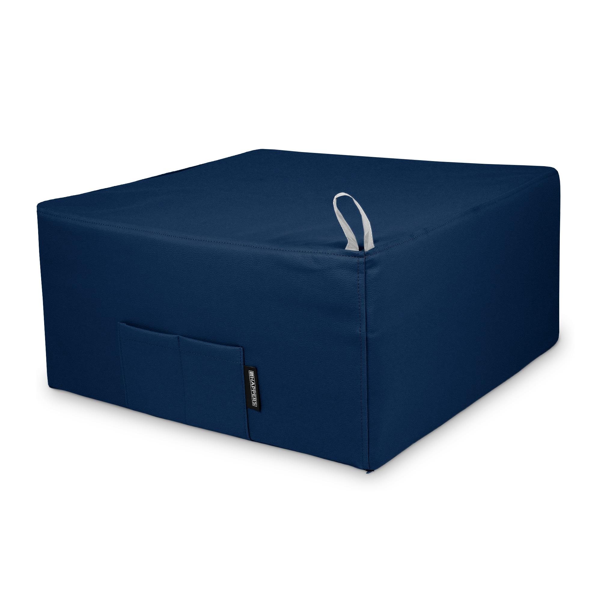 Puff Cama Individual para una persona Polipiel Indoor Azul Happers
