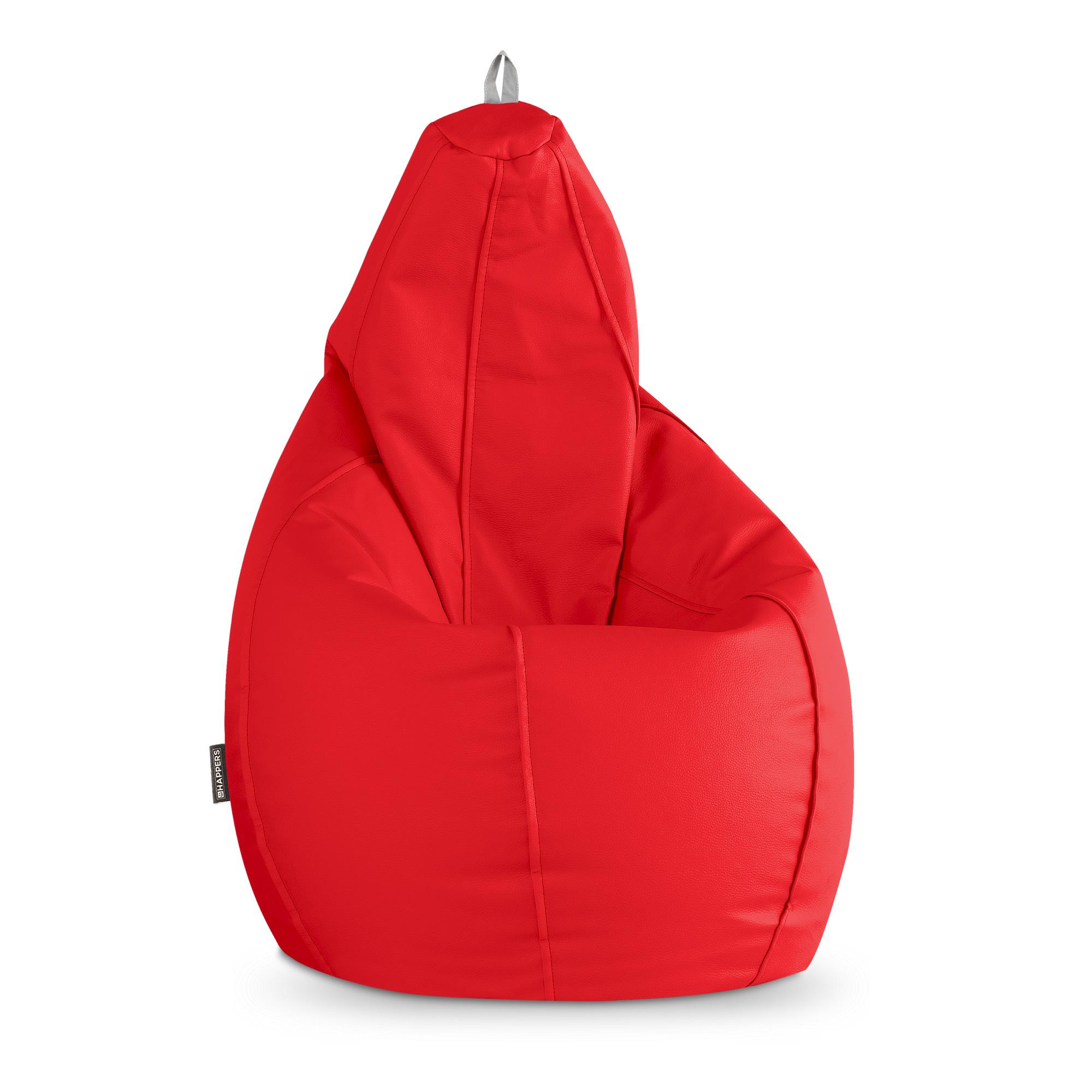 Puff Pera Polipiel Indoor Rojo Happers | Happers.es