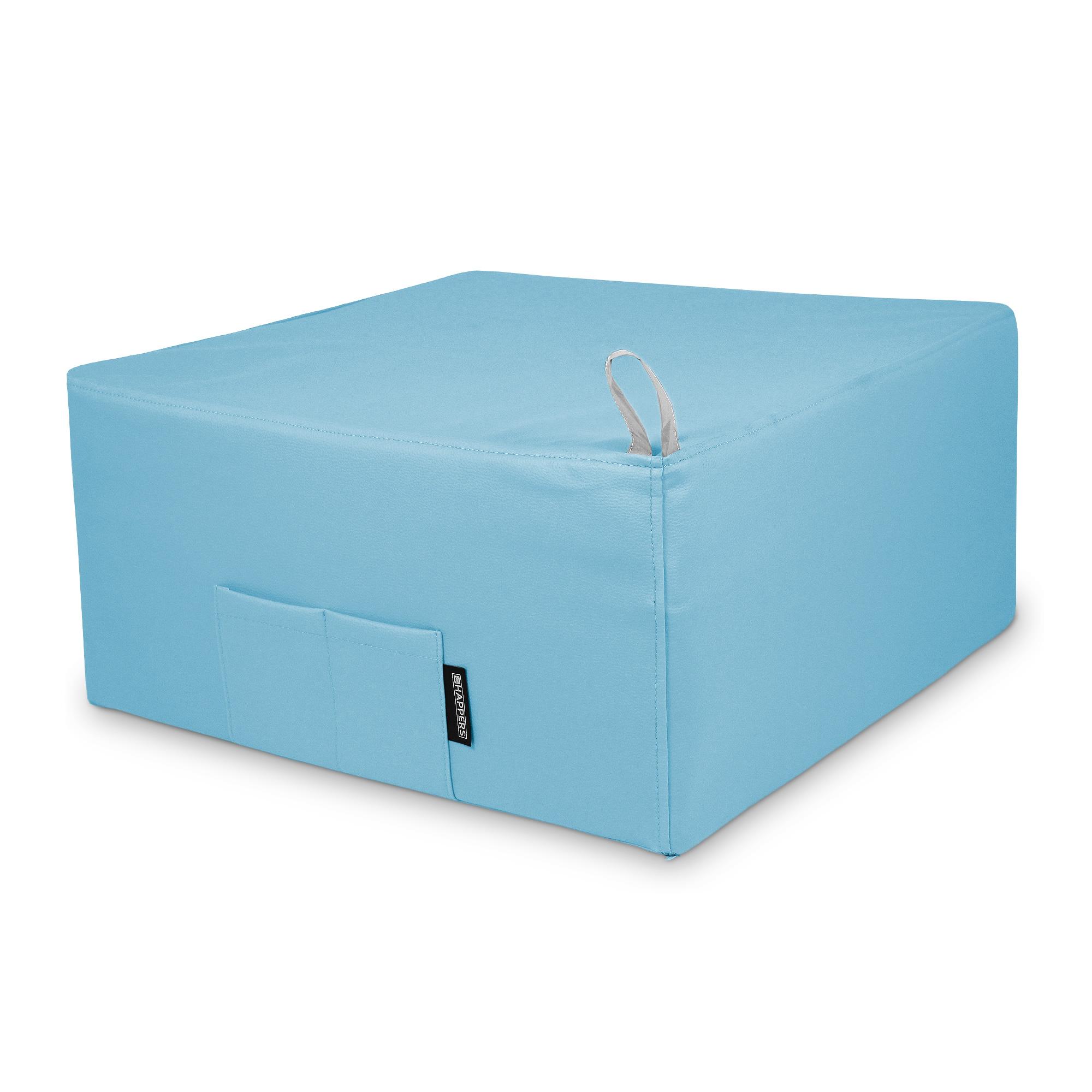 Puff Cama Individual para una persona Polipiel Indoor Azul Cielo en puffdepera.com