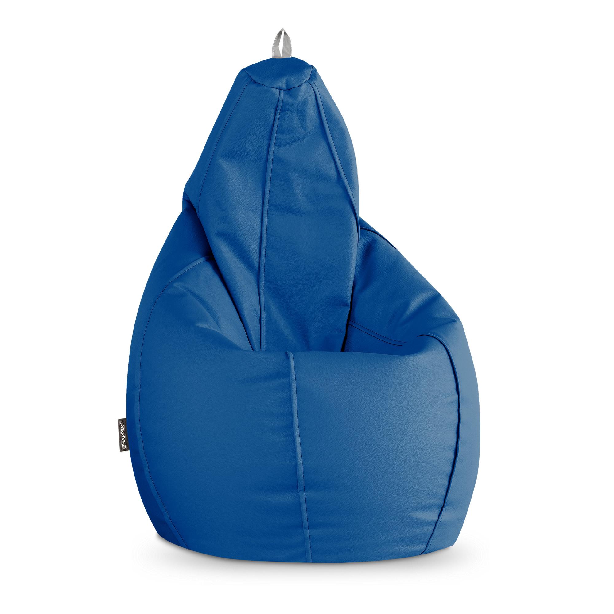 Puff Pera Polipiel Indoor Azul Happers
