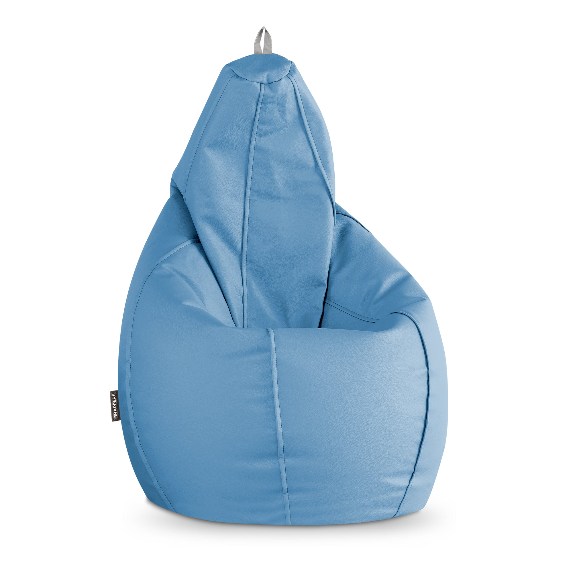 Puff Pera Polipiel Indoor Azul Cielo Happers