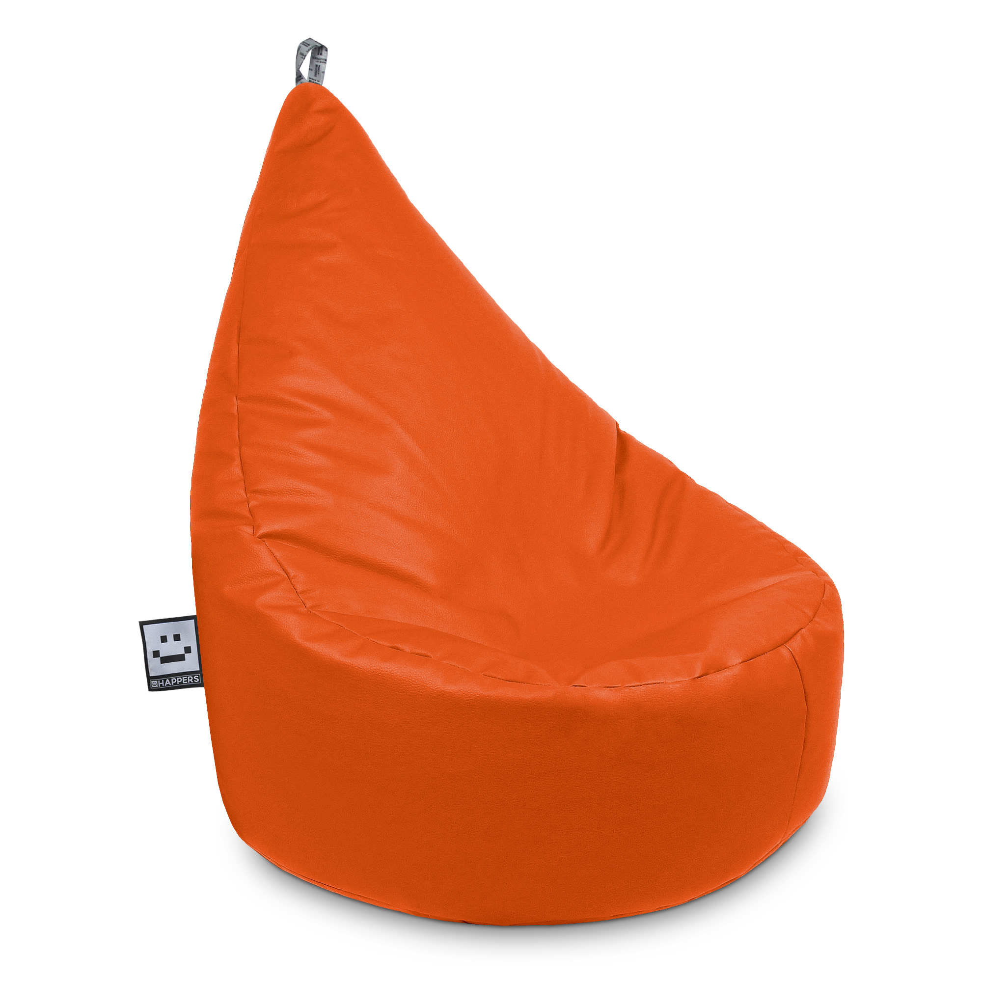 Puff Butaca Polipiel Indoor Naranja XL Happers | Happers.es