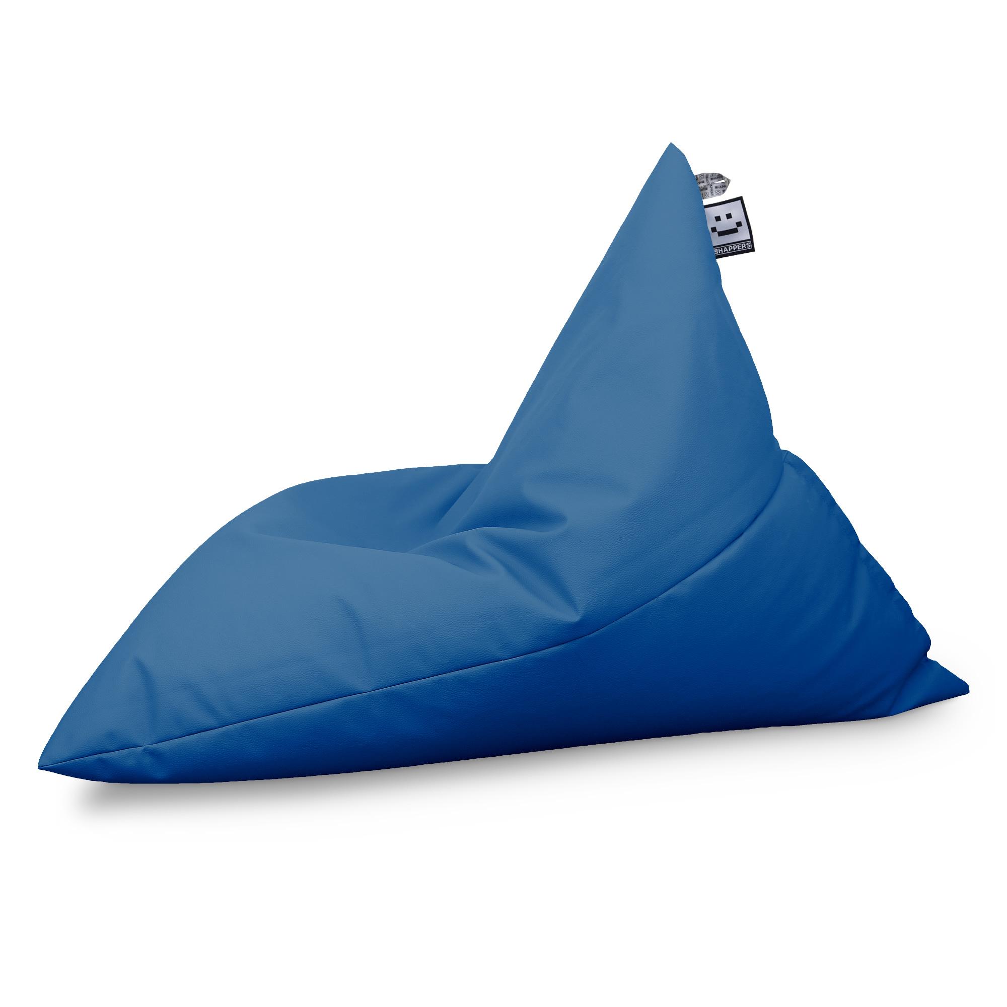 Puff Pirámide Polipiel Indoor Azul (1)