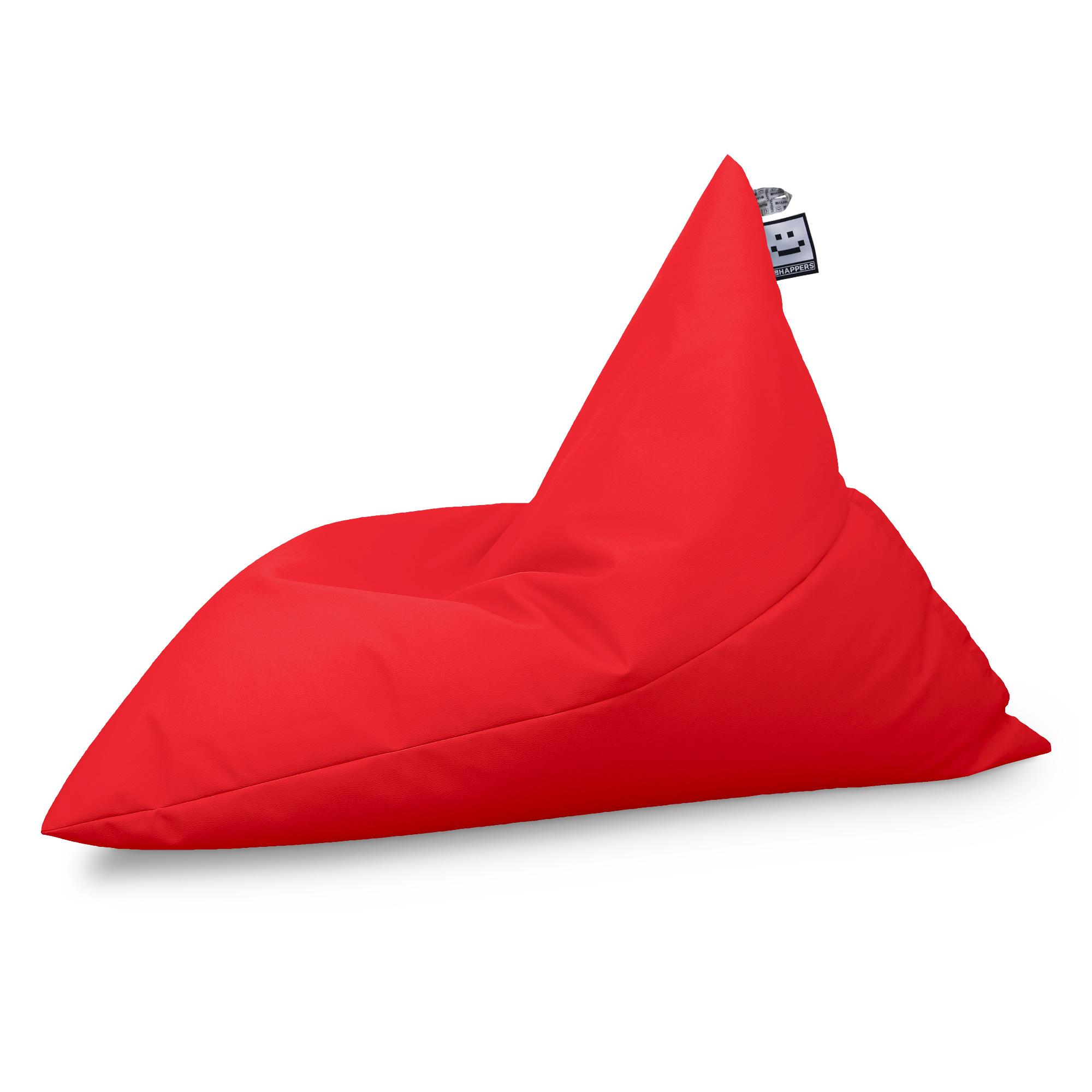 Puff Pirámide Polipiel Indoor Rojo HAPPERS (1)