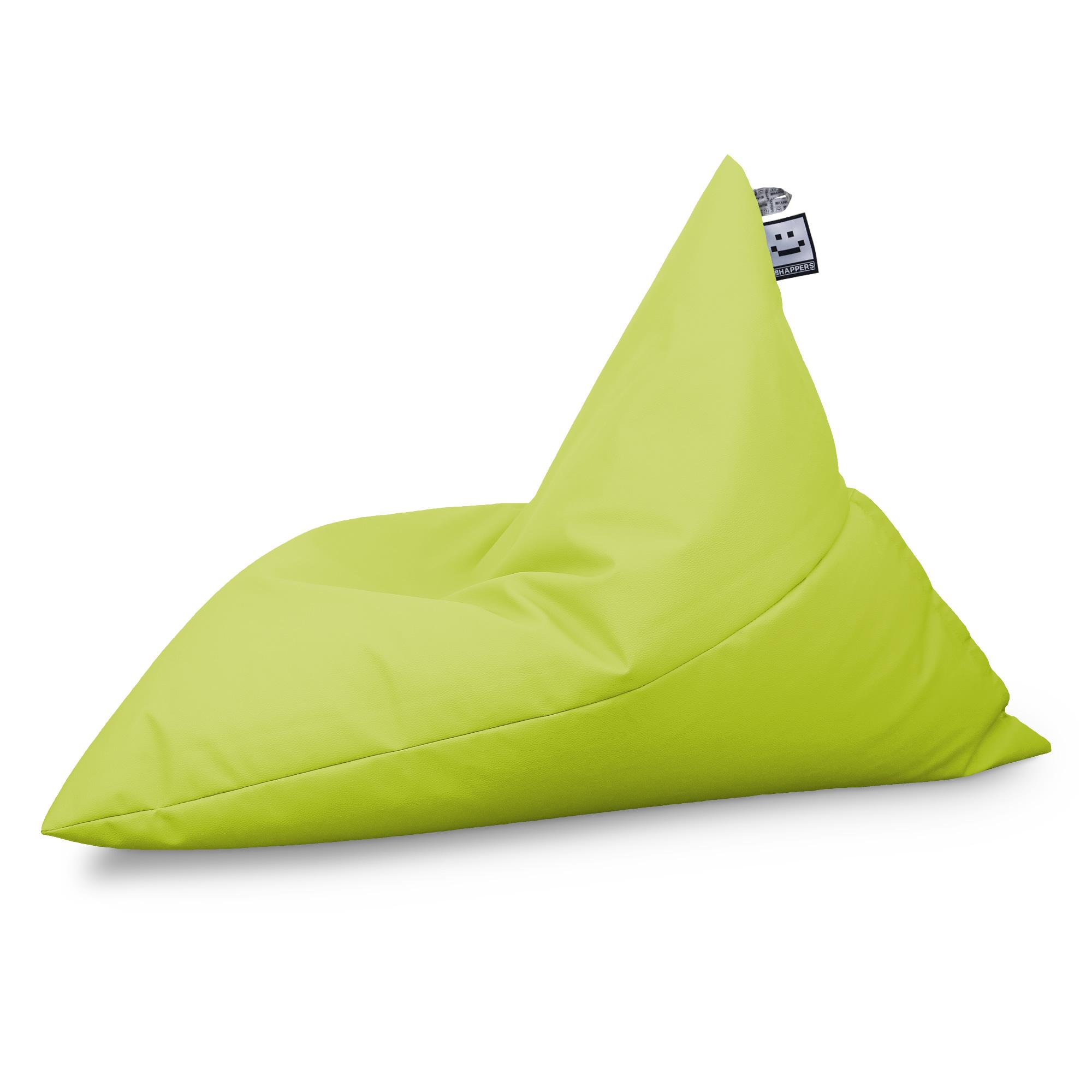 Puff Pirámide Polipiel Indoor Verde (1)