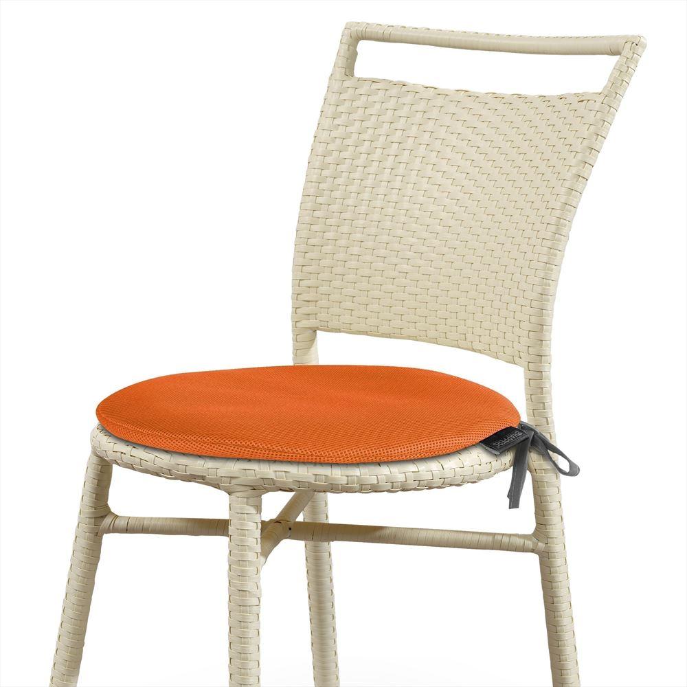 Coj n garden redondo transpirable 3d naranja happers - Cojin redondo silla ...