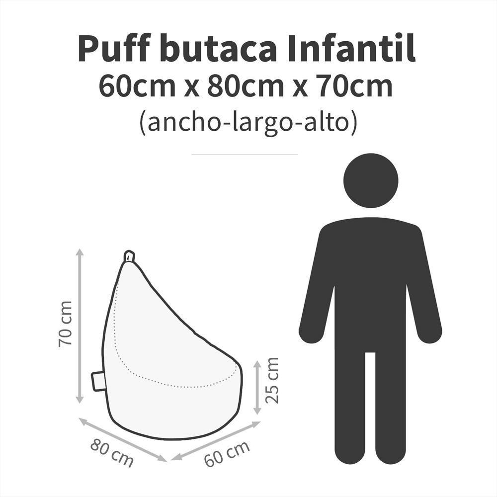 Puff Butaca Polipiel Indoor Gris Happers (1)