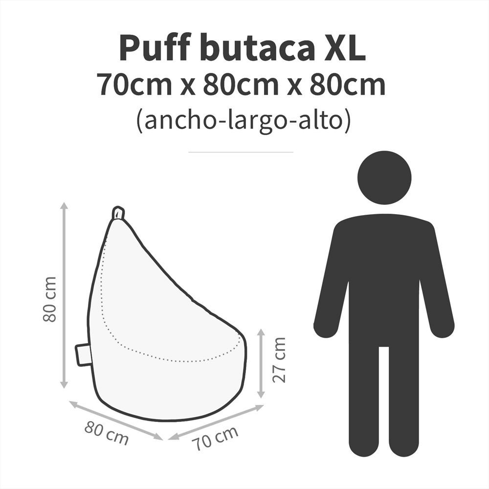 Puff Butaca Polipiel Indoor Naranja Happers (2)