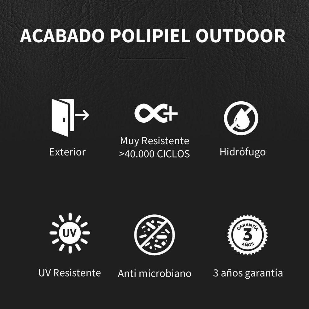 Puff Butaca Polipiel Outdoor Azul Oscuro Happers (5)