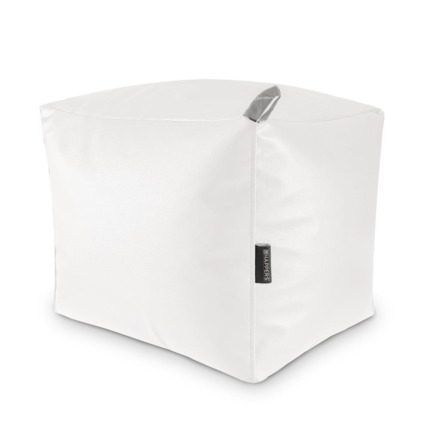 Puff Cuadrado Polipiel Indoor Blanco Happers | Happers.es