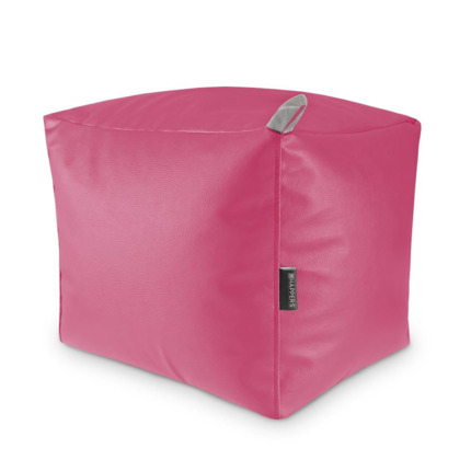 Puff Cuadrado Polipiel Indoor Fucsia Happers | Happers.es
