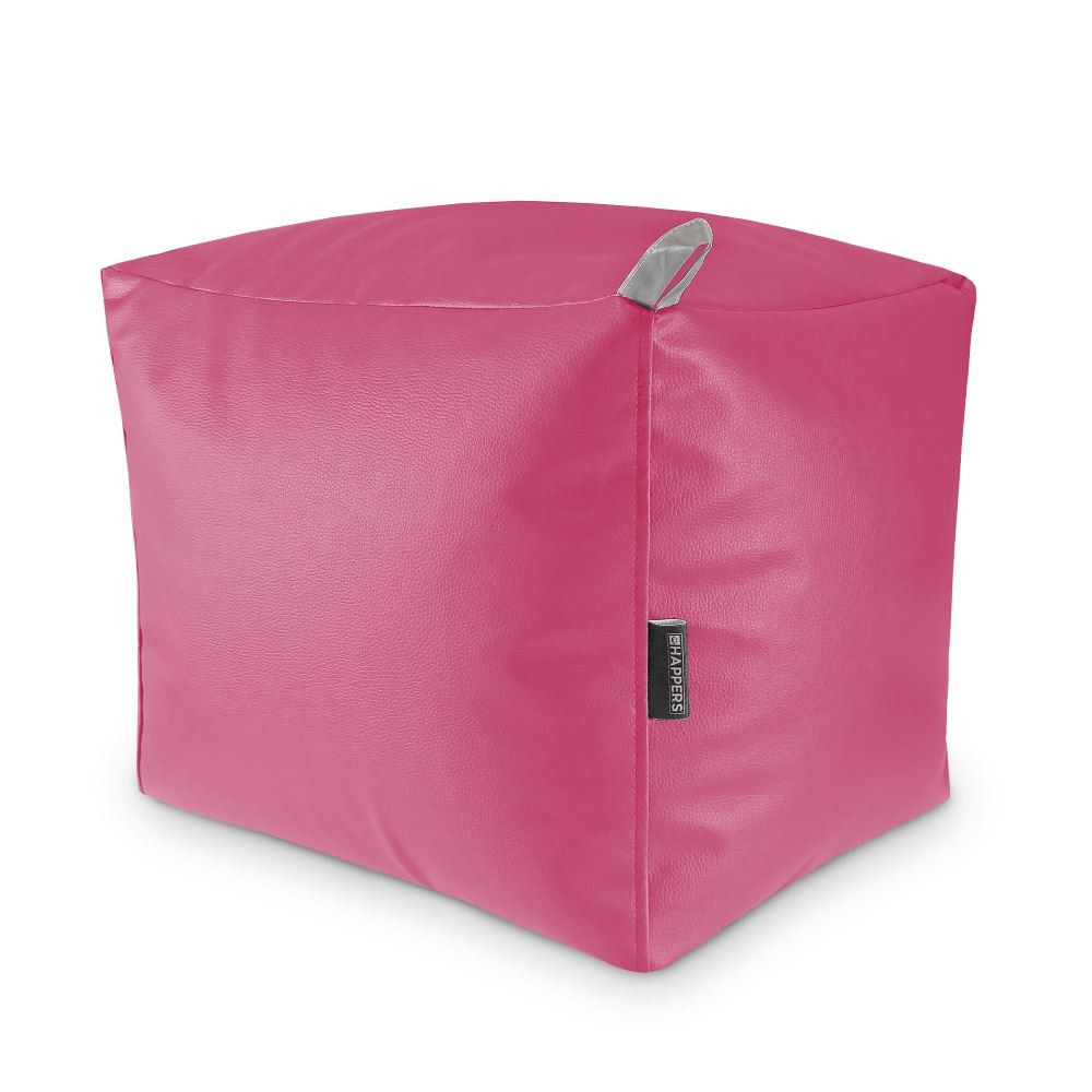 Puff Cuadrado Polipiel Indoor Fucsia Happers