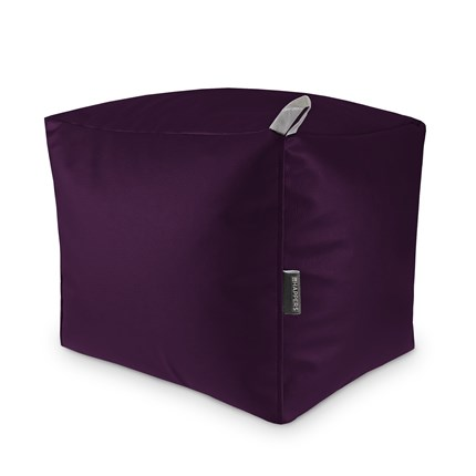 Puff Cuadrado Polipiel Indoor Morado Happers | Happers.es