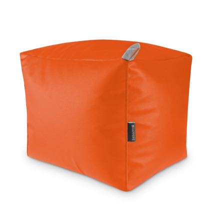 Puff Cuadrado Polipiel Indoor Naranja Happers | Happers.es