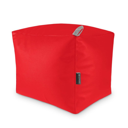 Puff Cuadrado Polipiel Indoor Rojo Happers | Happers.es