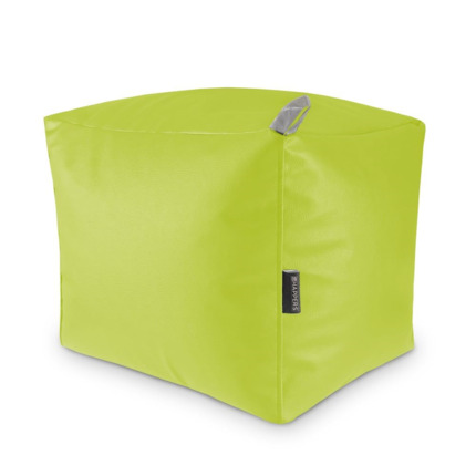 Puff Cuadrado Polipiel Indoor Verde Happers | Happers.es
