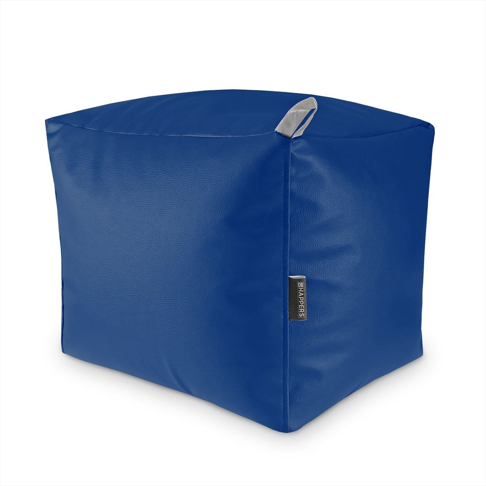 Puff Cuadrado Polipiel Outdoor Azul Happers