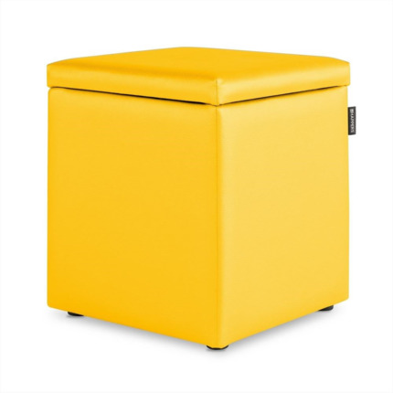 Puff Cubo Arcon Polipiel Indoor Amarillo Happers | Happers.es