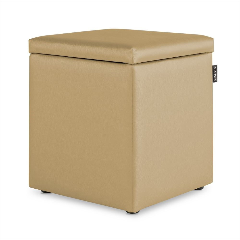 Puff Cubo Arcon Polipiel Indoor Beige Happers