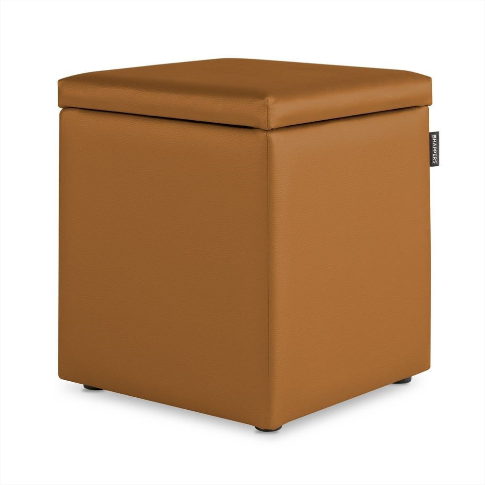 Puff Cubo Arcon Polipiel Indoor Camel Happers