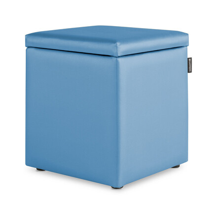Puff Cubo Arcon Polipiel Indoor Celeste Happers | Happers.es