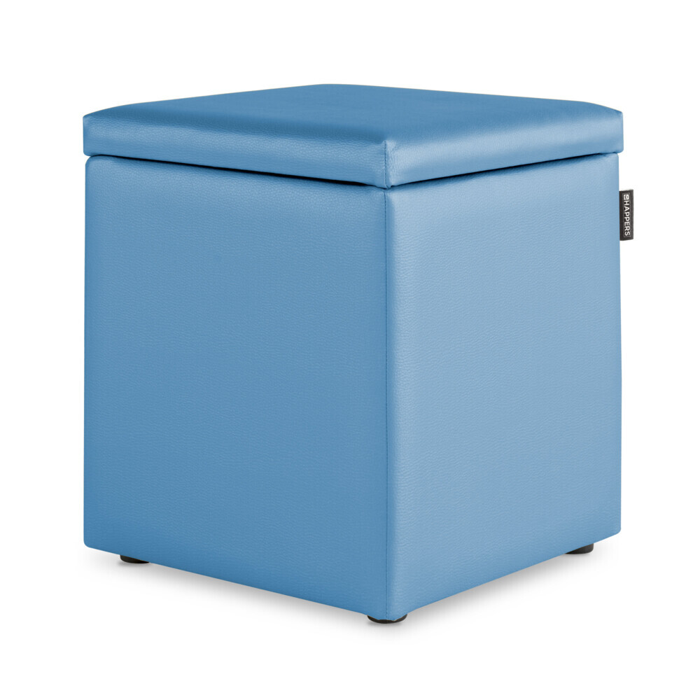 Puff Cubo Arcon Polipiel Indoor Celeste Happers