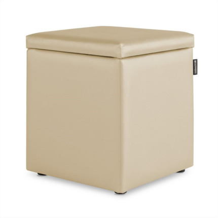 Puff Cubo Arcon Polipiel Indoor Crudo Happers | Happers.es