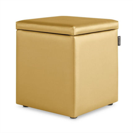 Puff Cubo Arcon Polipiel Indoor Dorado Happers | Happers.es