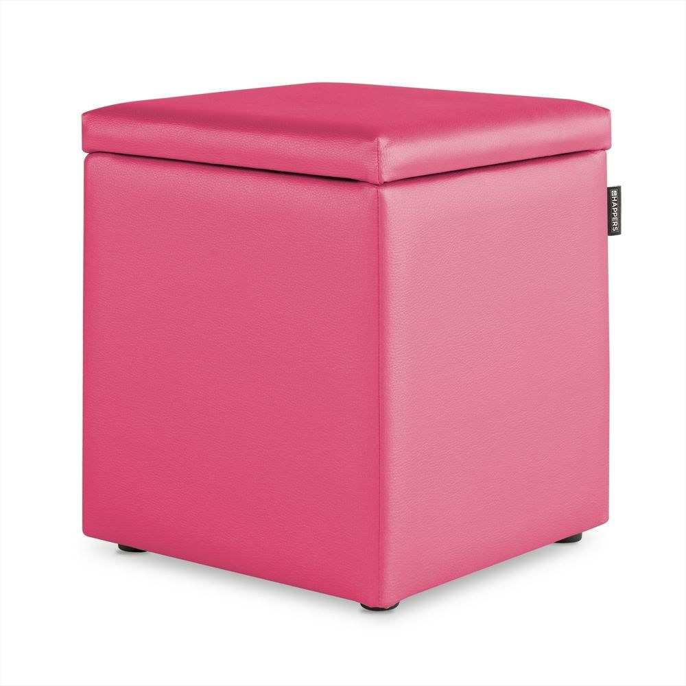 Puff Cubo Arcon Polipiel Indoor Fucsia Happers