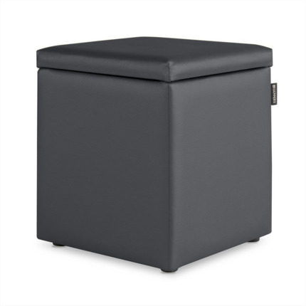 Puff Cubo Arcon Polipiel Indoor Gris Happers | Happers.es