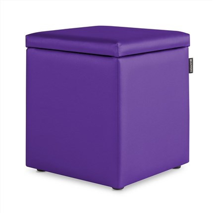Puff Cubo Arcon Polipiel Indoor Lila Happers | Happers.es