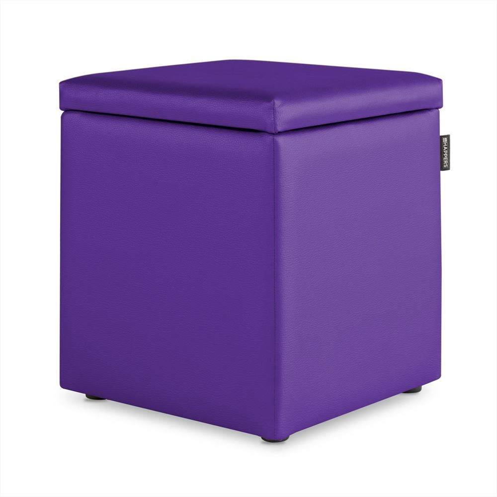 Puff Cubo Arcon Polipiel Indoor Lila Happers