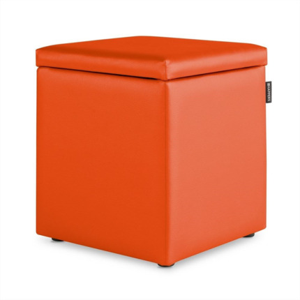 Puff Cubo Arcon Polipiel Indoor Naranja Happers | Happers.es