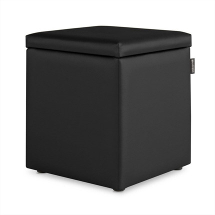Puff Cubo Arcon Polipiel Indoor Negro Happers | Happers.es