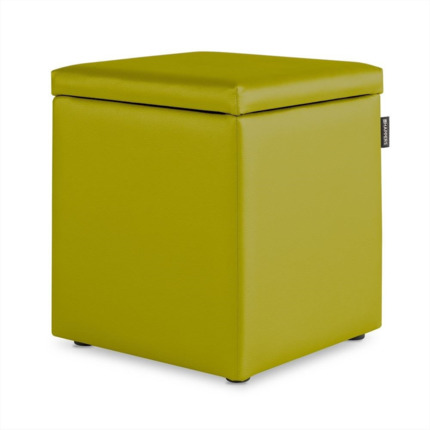 Puff Cubo Arcon Polipiel Indoor Pistacho Happers | Happers.es