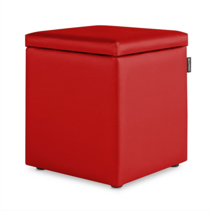 Puff Cubo Arcon Polipiel Indoor Rojo Happers | Happers.es