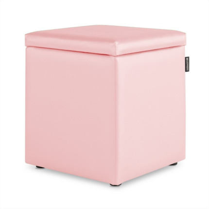 Puff Cubo Arcon Polipiel Indoor Rosa Happers | Happers.es