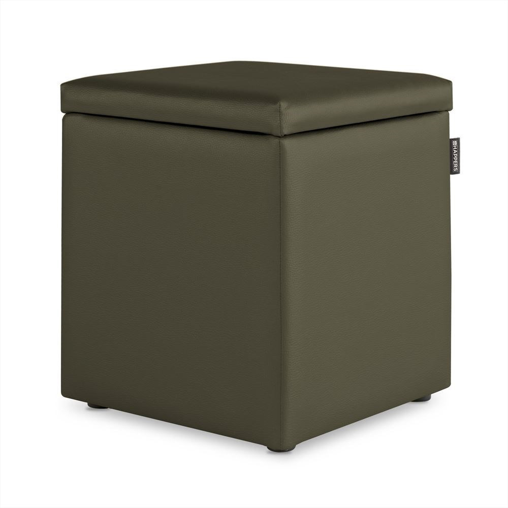 Puff Cubo Arcon Polipiel Indoor Taupe Happers