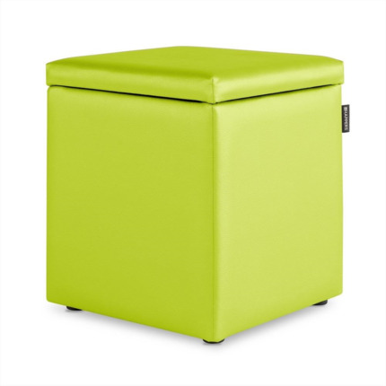 Puff Cubo Arcon Polipiel Indoor Verde Happers | Happers.es