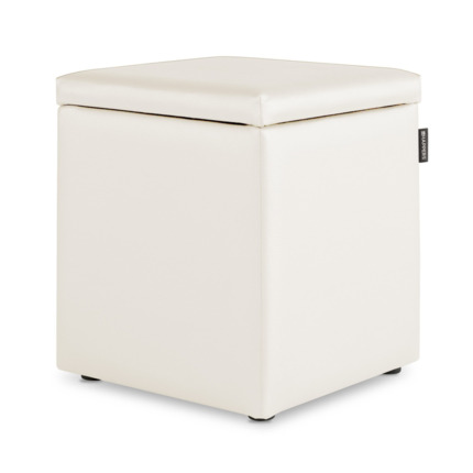 Puff Cubo Arcon Polipiel Outdoor Blanco Happers | Happers.es