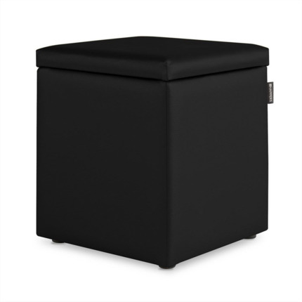 Puff Cubo Arcon Polipiel Outdoor Negro Happers | Happers.es