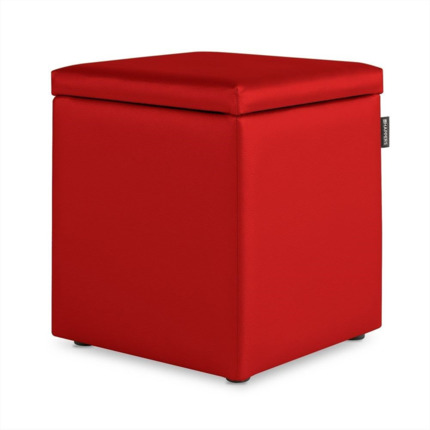 Puff Cubo Arcon Polipiel Outdoor Rojo Happers | Happers.es