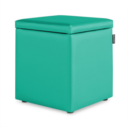 Puff Cubo Arcon Polipiel Outdoor Turquesa Happers | Happers.es